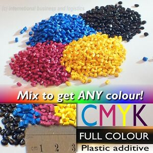 Details about Cyan Magenta Yellow Black Masterbatch Colourant for ABS  Plastic Pellets Filament