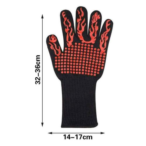 BBQ Gloves Fireproof Cooking Oven Grilling Silicone newmcx Kitchen Welding P9N4
