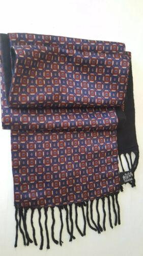 Silk Road Italian Men's Reversible Silk Wool Scarf