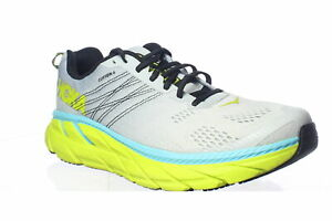 Hoka-One-One-Mens-Clifton-6-Gray-Running-Shoes-Size-10-5-1423965