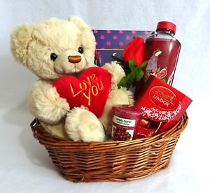 Image Is Loading Valentines Gift Basket Hamper Birthday For Wife