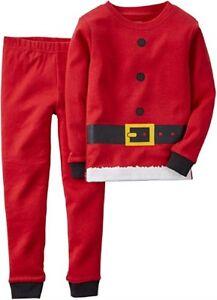 Carter's Baby Boy's 2-Piece Christmas Santa Holiday Pajamas Set - NEW/NWT