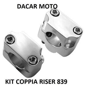 KIT-COPPIA-SUPPORTI-ATTACCO-28-22mm-MANUBRIO-RISER-839-UNIVERSALI-ALLUMINIO