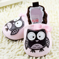 Baby Girl First Shoes Pink Owl casual Shoes Soft soles Crib Shoes 0-18 Months/S