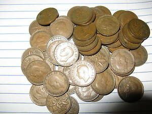 Rare-Lot-Canada-50-Random-Mix-King-George-VI-Era-Pennies