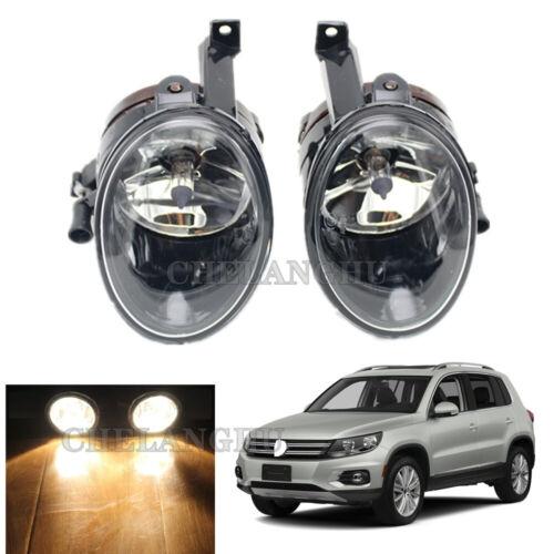 Pair For VW Tiguan 2012 2013 2014 2015 2016 2017 2018 Front Fog Lamp Fog Light