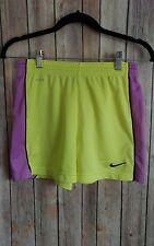 Nike Dri-Fit Women's Size XS Yellow Purple Athletic Shorts Running Basketball