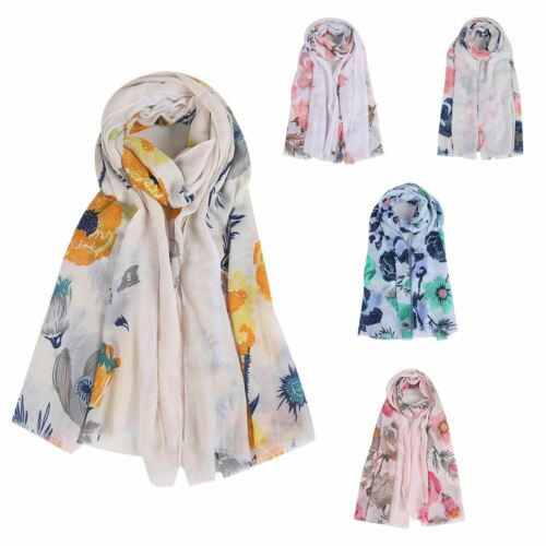 Womens funky vintage flower summer style neck wrap up head scarf