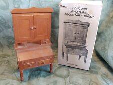 Vtg New CONCORD Mini Dollhouse Wood SECRETARY DESK CHEST