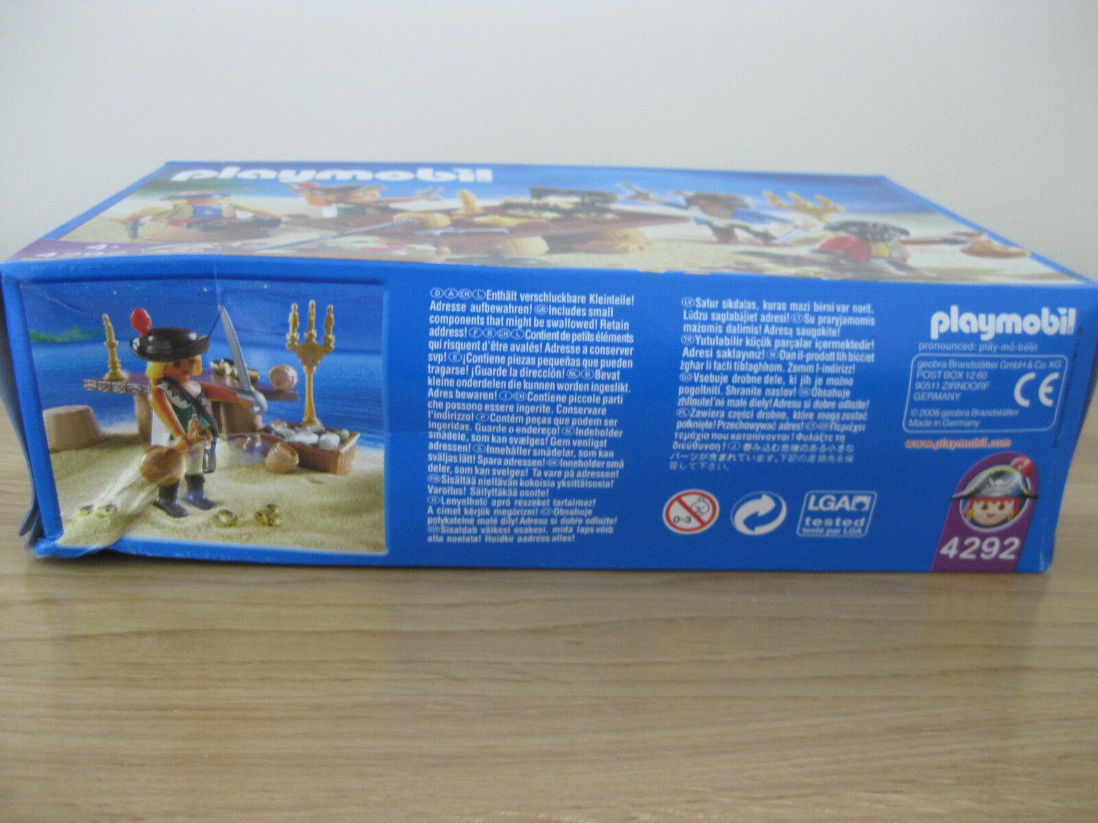 Nuovo Nuovo Nuovo  PLAYMOBIL 4292 equipaggio dei Pirati con Tesoro 4 cifra 2006 53e316