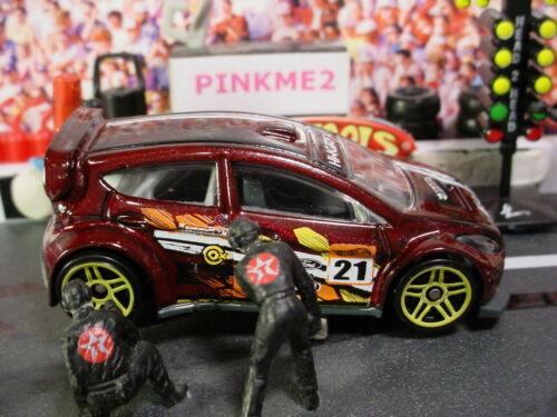 2015 Hot Wheels /'12 FORD FIESTA ∞maroon;Yellow pr5;21∞Road Rally∞New Loose∞