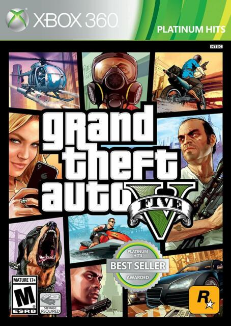 Grand Theft Auto V 5 GTA5 [Microsoft Xbox 360 GTA5 Rockstar Best Seller] NEW