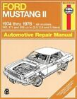 Ford Mustang II 1974-78 All Models Owner's Workshop Manual by J. H. Haynes, Marcus Daniels (Paperback, 1982)
