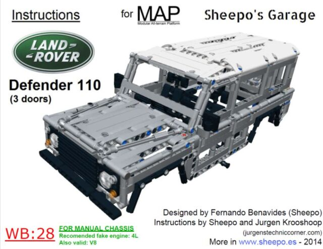Sheepo S Lego Technic Custom Land Rover Defender 110 Only