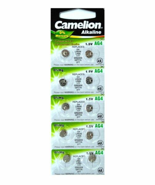 Knopfzelle Camelion Ag4 1 5v Alkaline 10er - Blister ...