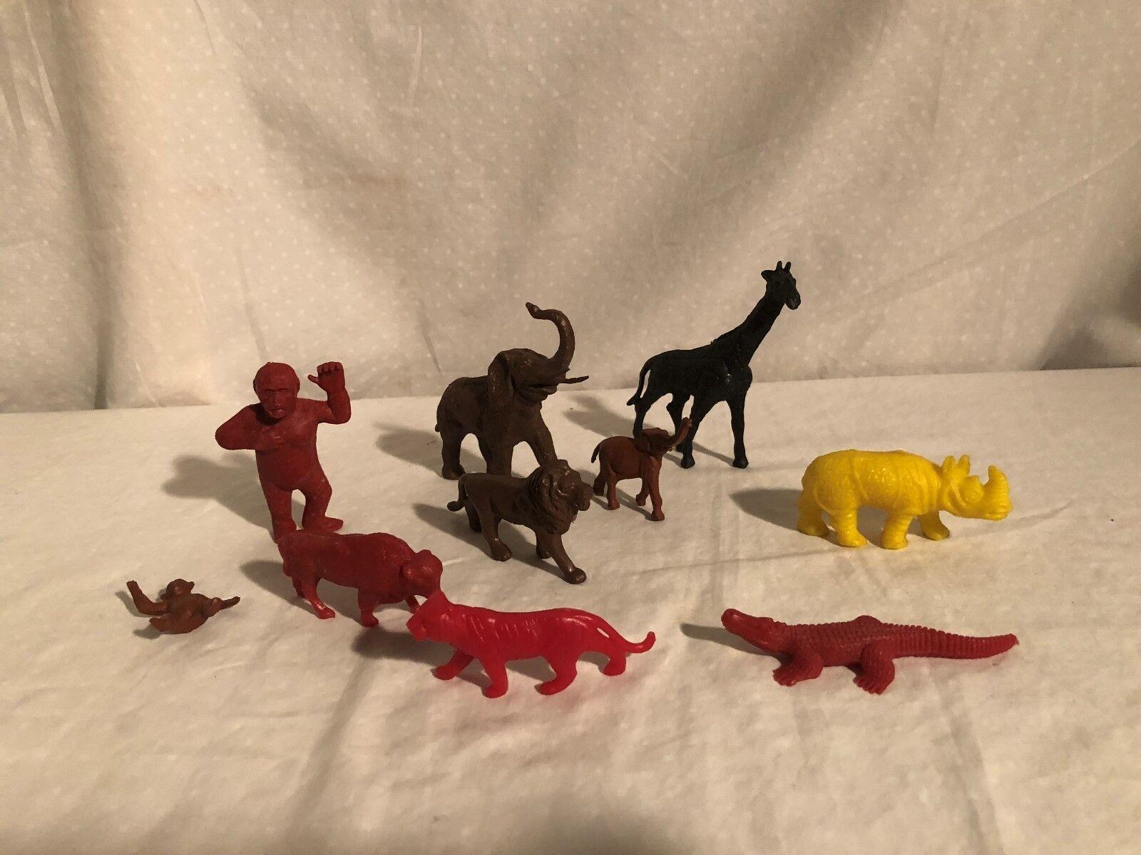 Vintage Marx, Auburn, Timme, Lido Zoo Animals 10 pieces