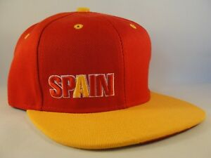 19b2be5b Spain Snapback Hat Cap Red Orange | eBay