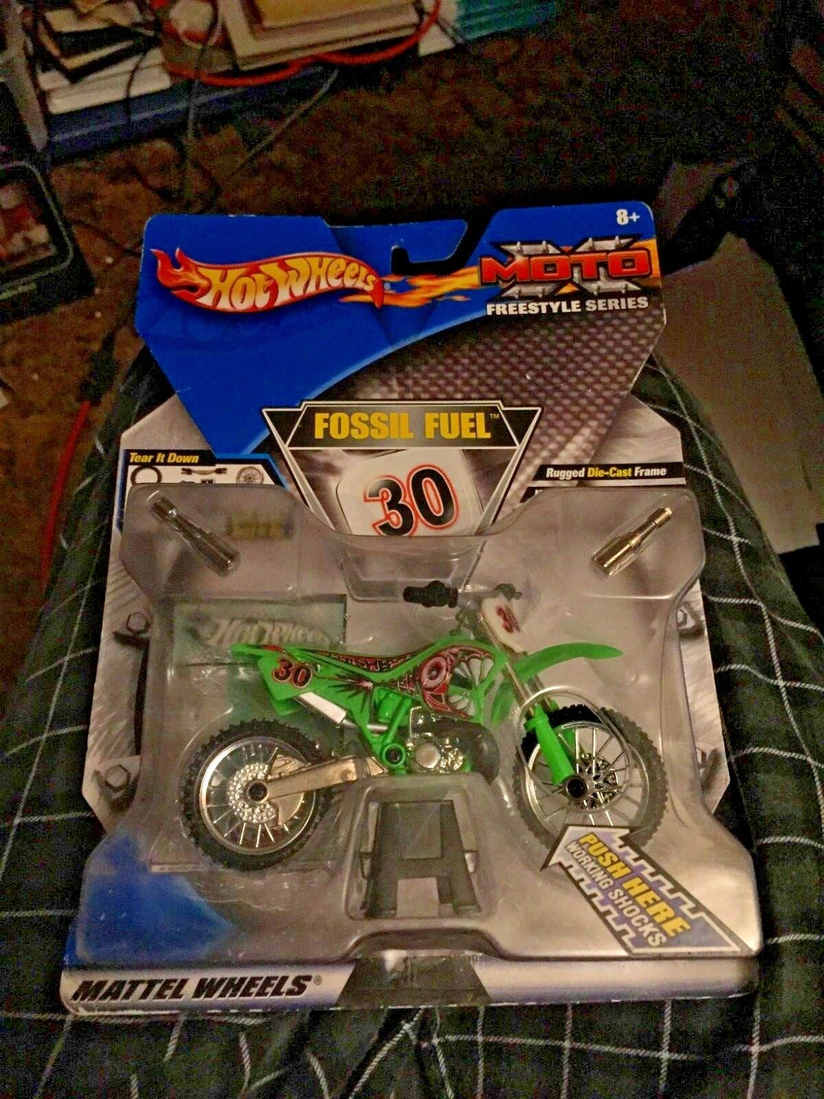 2001 Hot Wheels Deluxe Moto X Freestyle Series FOSSIL FUEL MATTEL RARE