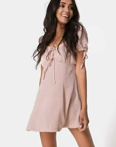 MOTEL-ROCKS-Guenette-Dress-in-Satin-Dusty-Rose-M-Medium-MR56-1