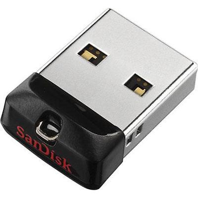 SanDisk Cruzer Fit Flash Drive 8GB 16GB 32GB 64GB USB 2.0 Memory Stick