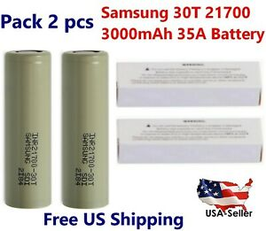 2x-Samsung-INR21700-30T-35A-3000mAh-Rechargeable-High-Drain-3-7V-21700-Battery