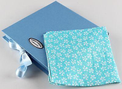 NWT VINCENZO DI RUGGIERO SQUARE POCKET pochette cotton printed handmade Italy