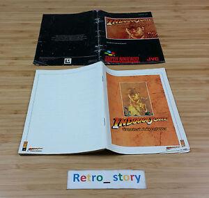 Super-Nintendo-SNES-Indiana-Jones-Greatest-Adventures-Notice-Instruction