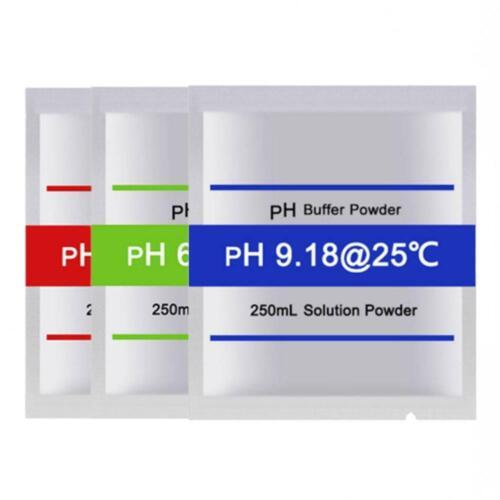 30Pcs PH Meter Buffer Solution Powder for Easy PH Calibration 4.01//6.86//9.18 Set
