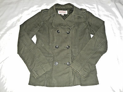 69028cde87100 Mossimo Supply Co. Outerwear Button Up Winter Jacket Coat Size S Olive Green