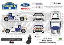 [FFSMC Productions] Decals 1/18 Ford RS 200 Rallye de Suède (Swedish Rally) 1986