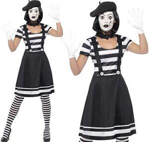 6822aac52c Caricamento dell'immagine in corso Donna-Mimo-Artista-Costume-da-Donna -Francese-Mimo-