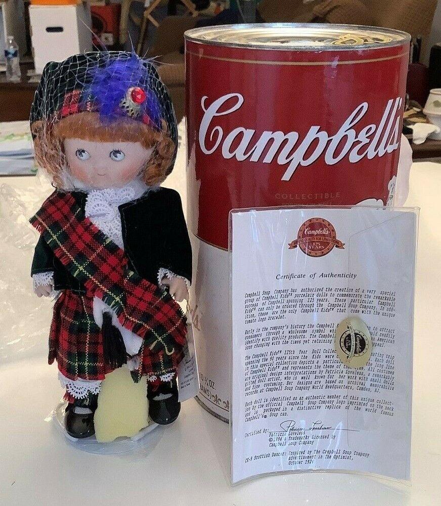 1994 Campbell bambini ottimista SERIE Bambola di porcellana  CK9 Btuttierina scozzese