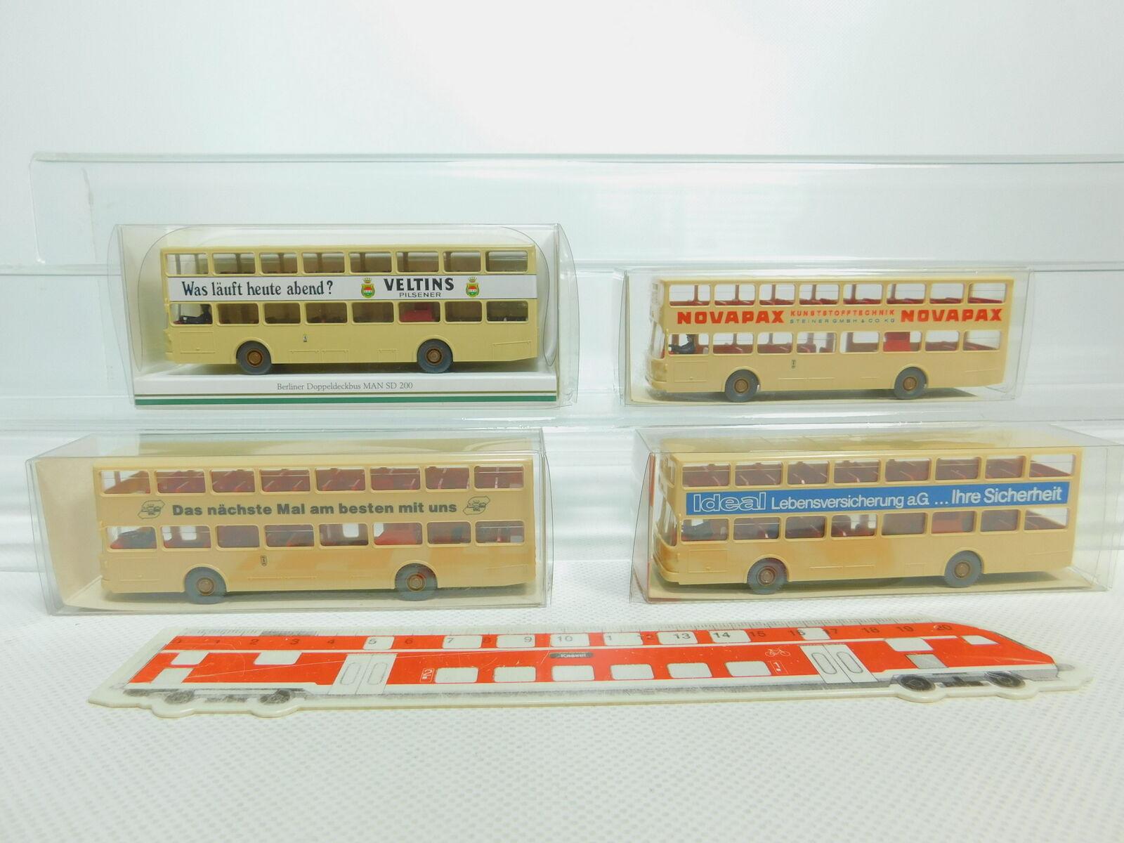 Bo780-0,5   4x wiking h0   87 autobus mann sd - 200  730 + + + 24730 veltins.