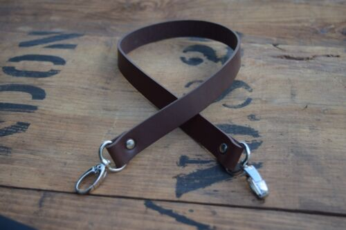 Replacement Leather Shoulder Bag Strap19mm wide 900mm long nickel silver clasps