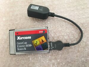 XIRCOM CREDITCARD ETHERNET 10 100 MODEM 56 DRIVER WINDOWS XP
