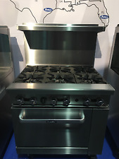 """NEW HEAVY 36"""" RANGE 6 BURNERS WITH 1 FULL STANDARD OVEN STOVE  LP PROP GAS ONLY"""