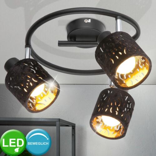 LED Decken Lampe Spots beweglich Arbeits Zimmer Rondell Leuchte Dekor Stanzungen