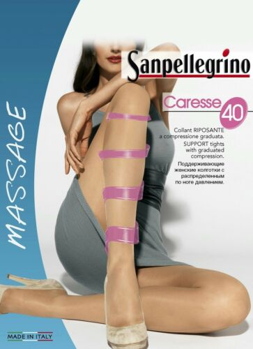 5 COLLANT SANPELLEGRINO CARESSE 40 DEN RIPOSANTI COLORE GLACE/'
