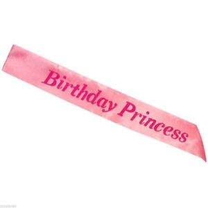 Pink Party Girl Sash Night Out Accessory Party Sash Fancy Dress