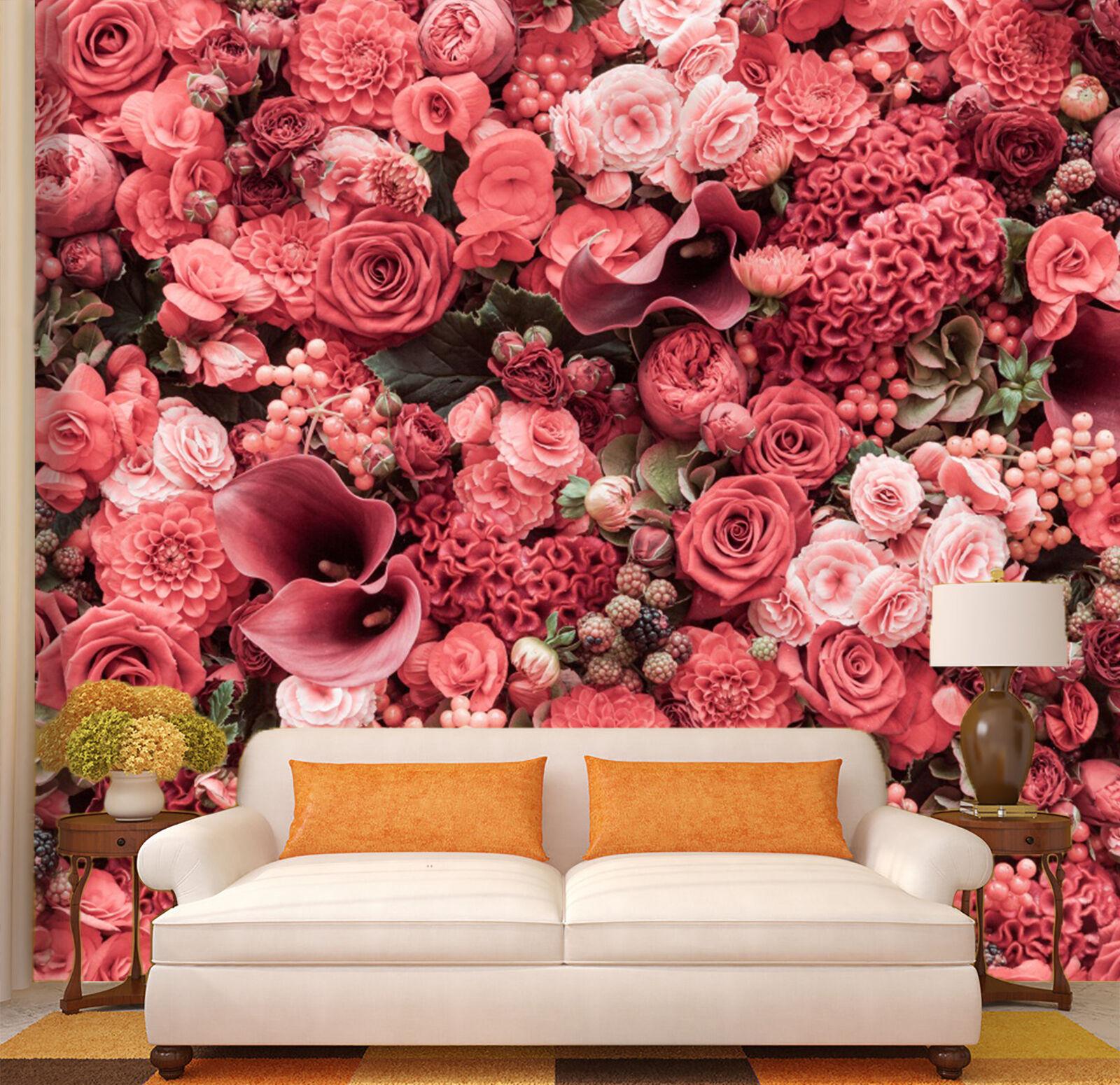 3D Beautiful pinks Flower 0128 Wall Paper Wall Print Decal Wall AJ WALLPAPER CA