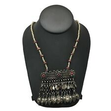 Handmade Vintage Afghan Tribal Kuchi Fashion Chained Jingles Necklace, KN254