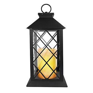 LED Laterne Kerze flackernd Außen Leuchte Deko Metall Windlicht Gartenlampe