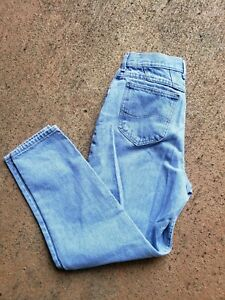 Vintage-Lees-Womens-High-Rise-Mom-Waisted-Jeans-Size-12-80s-90s-Light-Wash-Note
