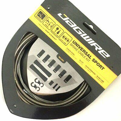 UCK424 AMU Braided Jagwire Universal Sport Brake Cable Set Carbon Silver