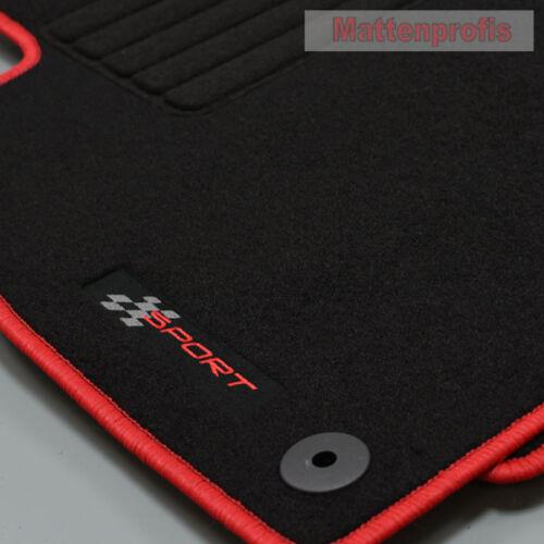 Mattenprofis Velours Edition Fußmatten für Seat Leon I 1M ab Bj.1999-2005 rot
