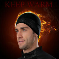 Cheji Winter Cycling Cap Black Thermal Fleece Running Bike Hat Cap Reflective