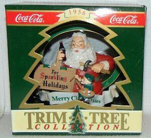 Santa Claus Coke Ornament Christmas Trim A Tree Collection 1956 Coca Cola