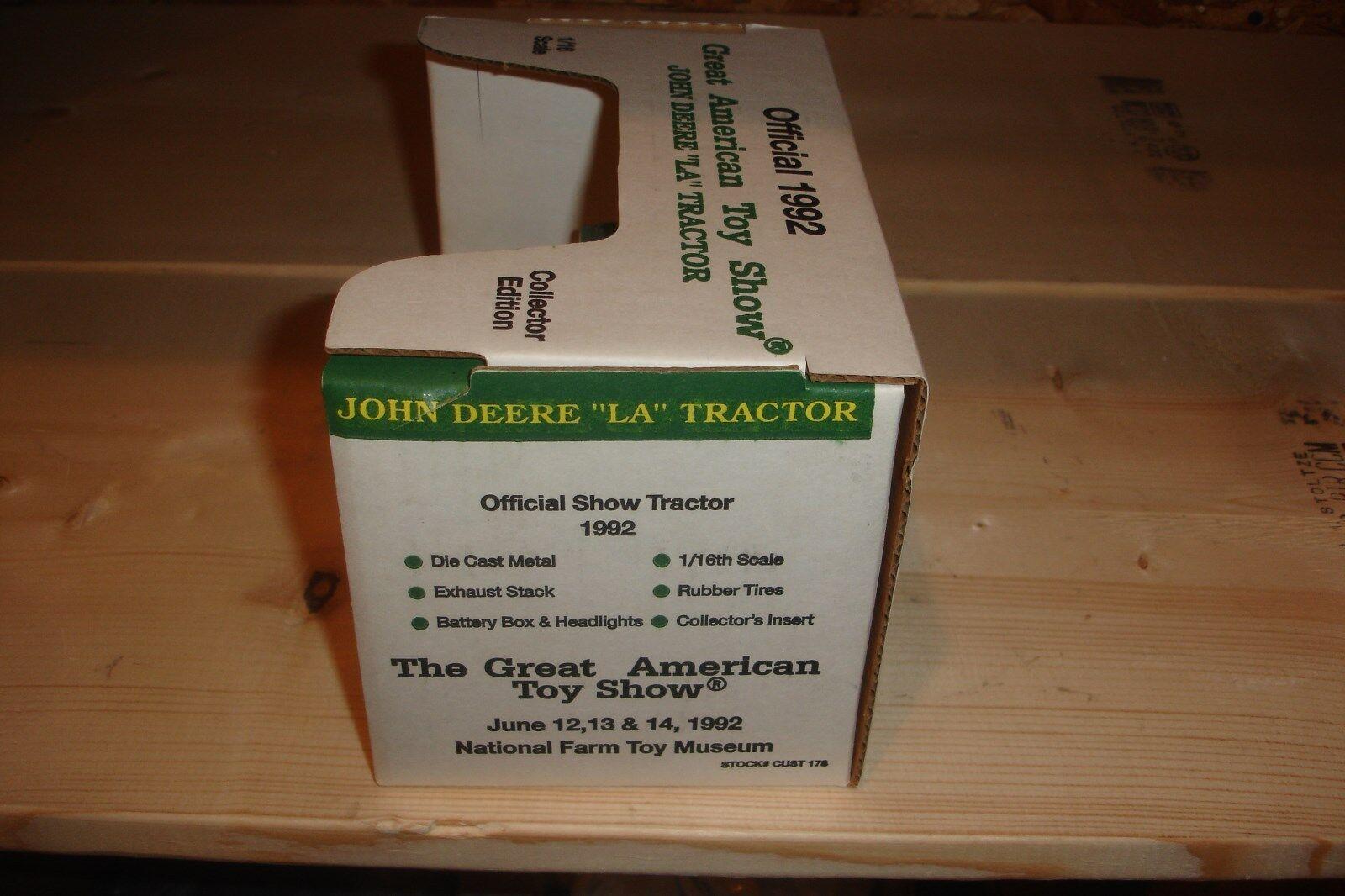 1 16 john deere la toy tractor