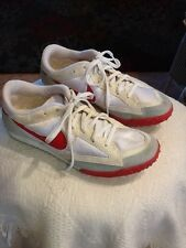 Vintage 90's NIKE Red white Zoom waffle Running Shoes Sneakers Sz 9