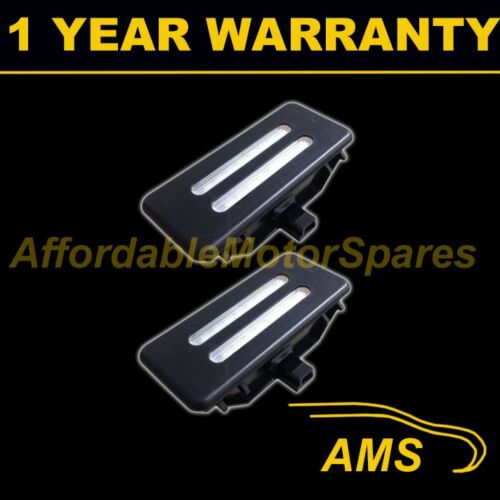2X FOR BMW 5 SERIES E60 E61 2003-10 18 WHITE LED VANITY MIRROR VISOR BLACK LAMPS